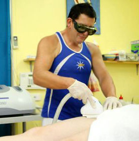 Andrew Thompson performs an IPL Hair Removal treatment at Reef Rockhampton