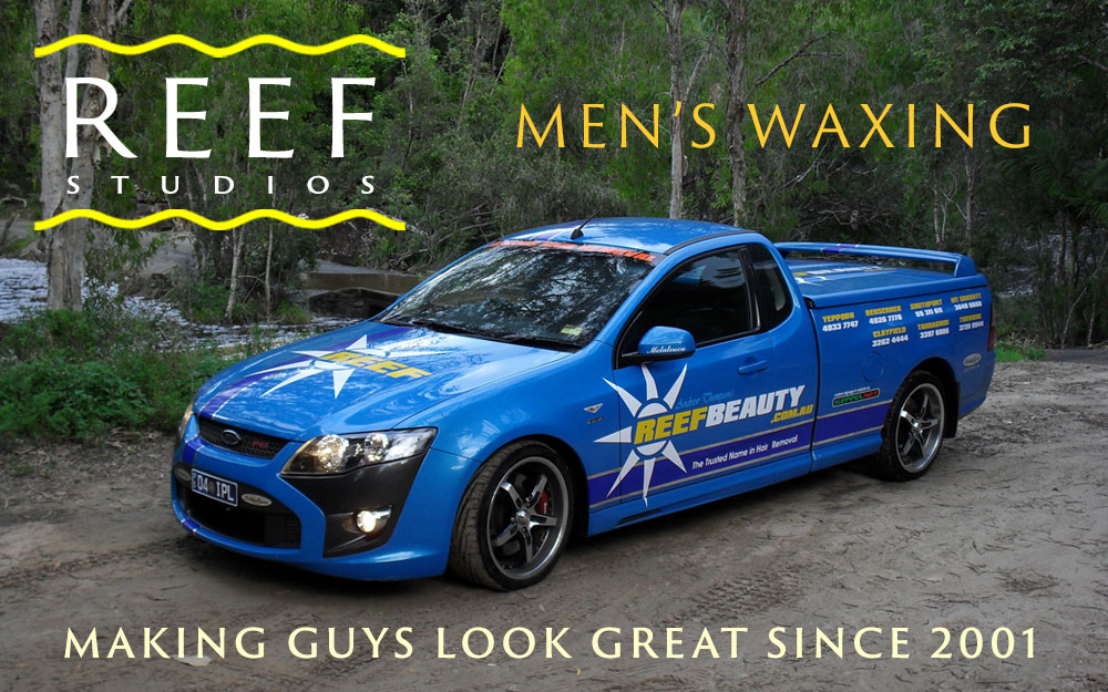 The Reef Ford Falcon FPV promoting men's waxing